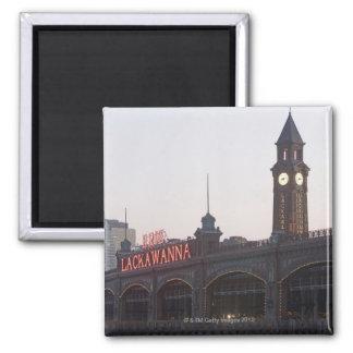 USA, New Jersey, Hoboken, old train station Magnet