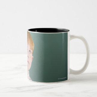 USA, New Jersey, Jersey City, Boy (8-9) Two-Tone Mug