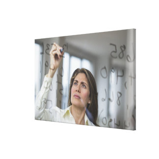 USA, New Jersey, Jersey City, Businesswoman Canvas Print