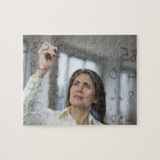 USA, New Jersey, Jersey City, Businesswoman Jigsaw Puzzle