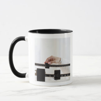USA, New Jersey, Jersey City, Close up of female Mug