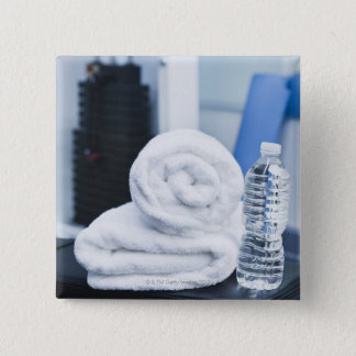 USA, New Jersey, Jersey City, Close up of towel 15 Cm Square Badge