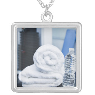 USA, New Jersey, Jersey City, Close up of towel Silver Plated Necklace
