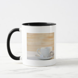 USA, New Jersey, Jersey City, cup and saucer