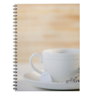 USA, New Jersey, Jersey City, cup and saucer Spiral Notebook