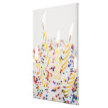 USA, New Jersey, Jersey City, Cupcake with 2 Canvas Print