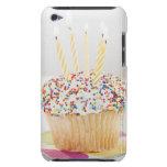 USA, New Jersey, Jersey City, Cupcake with iPod Case-Mate Cases