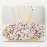 USA, New Jersey, Jersey City, Cupcake with Mouse Pad