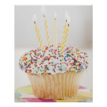 USA, New Jersey, Jersey City, Cupcake with Print