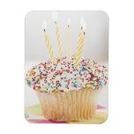 USA, New Jersey, Jersey City, Cupcake with Rectangular Photo Magnet