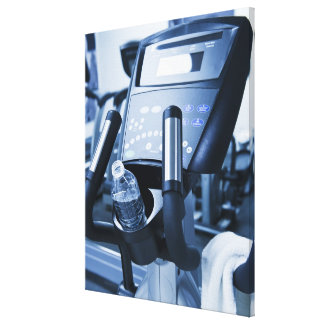 USA, New Jersey, Jersey City, Exercise machine Canvas Print