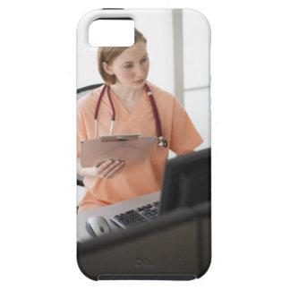 USA, New Jersey, Jersey City, female nurse iPhone 5 Case