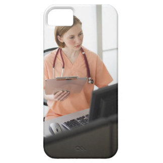 USA, New Jersey, Jersey City, female nurse iPhone 5 Cover