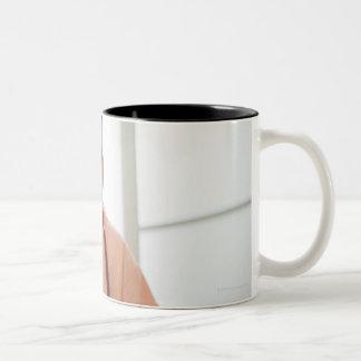 USA, New Jersey, Jersey City, female nurse Two-Tone Mug