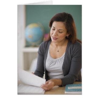 USA, New Jersey, Jersey City, female teacher Greeting Card