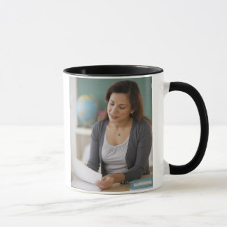 USA, New Jersey, Jersey City, female teacher Mug