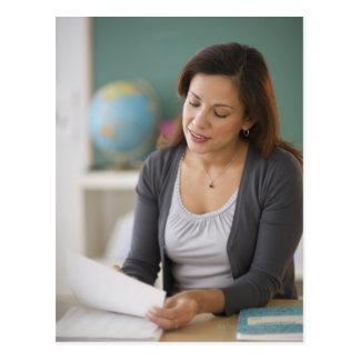 USA, New Jersey, Jersey City, female teacher Postcard