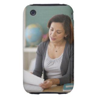 USA, New Jersey, Jersey City, female teacher Tough iPhone 3 Case