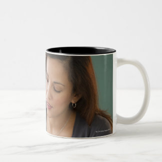 USA, New Jersey, Jersey City, female teacher Two-Tone Coffee Mug