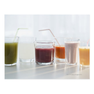 USA, New Jersey, Jersey City, fresh smoothies Postcards