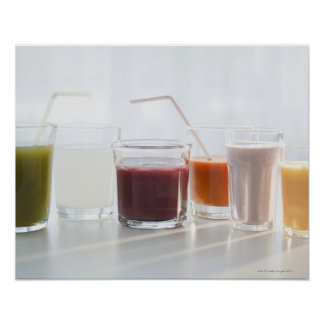 USA, New Jersey, Jersey City, fresh smoothies Poster