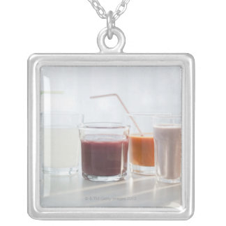USA, New Jersey, Jersey City, fresh smoothies Silver Plated Necklace