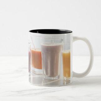 USA, New Jersey, Jersey City, fresh smoothies Two-Tone Coffee Mug