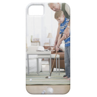 USA, New Jersey, Jersey City, grandfather and iPhone 5 Case