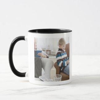USA, New Jersey, Jersey City, grandfather Mug