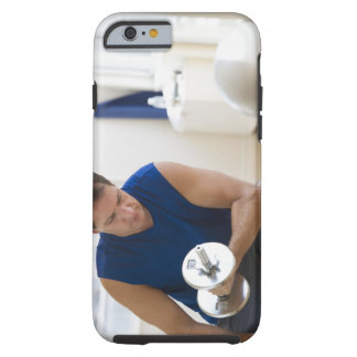 USA, New Jersey, Jersey City, Mature man lifting Tough iPhone 6 Case