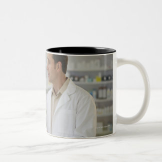 USA, New Jersey, Jersey City, Pharmacist Two-Tone Coffee Mug