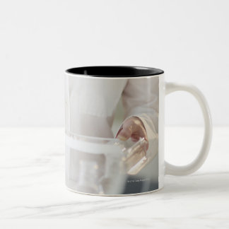 USA, New Jersey, Jersey City, pharmacist Two-Tone Mug