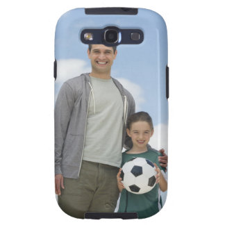 USA, New Jersey, Jersey City, portrait of father Samsung Galaxy S3 Cases