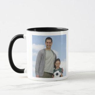 USA, New Jersey, Jersey City, portrait of father Mug