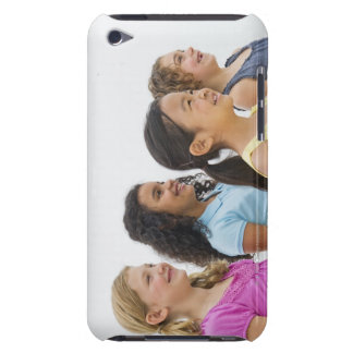 USA, New Jersey, Jersey City, Portrait of girls 2 Barely There iPod Case