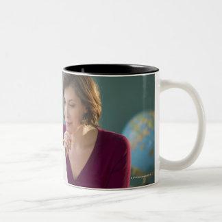 USA, New Jersey, Jersey City, portrait of Two-Tone Mug