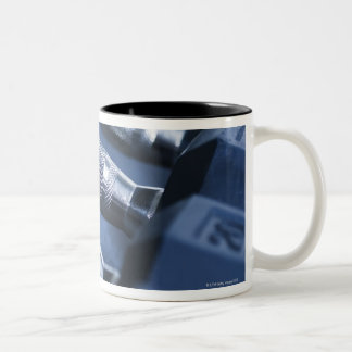USA New Jersey Jersey City Row of dumbbells Coffee Mugs