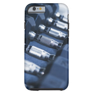USA, New Jersey, Jersey City, Row of dumbbells Tough iPhone 6 Case