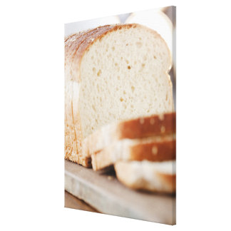 USA, New Jersey, Jersey City, Sliced bread Canvas Print