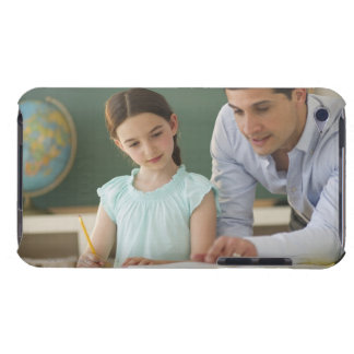 USA, New Jersey, Jersey City, teacher helping Barely There iPod Case