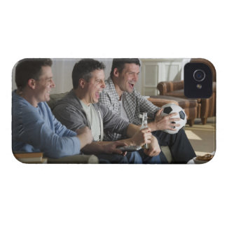 USA, New Jersey, Jersey City, three men watching iPhone 4 Cases