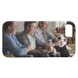 USA, New Jersey, Jersey City, three men watching Tough iPhone 5 Case