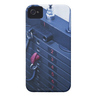 USA, New Jersey, Jersey City, Weights on iPhone 4 Case