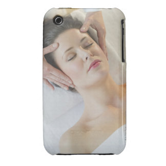 USA, New Jersey, Jersey City, woman receiving Case-Mate iPhone 3 Case
