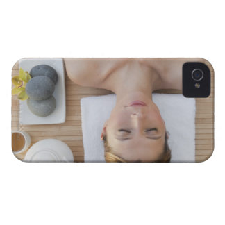 USA, New Jersey, Jersey City, Woman relaxing at Case-Mate iPhone 4 Cases