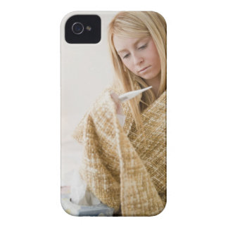 USA, New Jersey, Jersey City, woman wrapped in iPhone 4 Cases