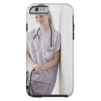 USA, New Jersey, Jersey City, Young nurse Tough iPhone 6 Case