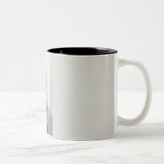 USA, New Jersey, Jersey City, Young nurse Two-Tone Coffee Mug