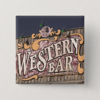 USA, New Mexico, Cloudcroft: Mountain Town (el. 15 Cm Square Badge