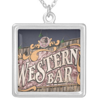 USA, New Mexico, Cloudcroft: Mountain Town (el. Silver Plated Necklace